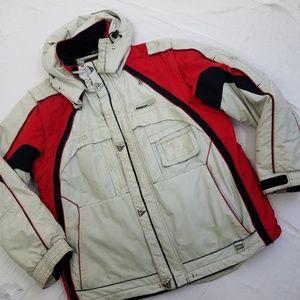 Karbon Men's Large Convertible Ski Jacket Red